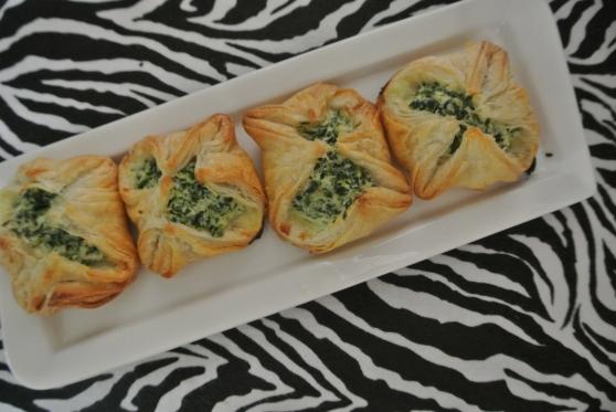 spinach ricotta puffs