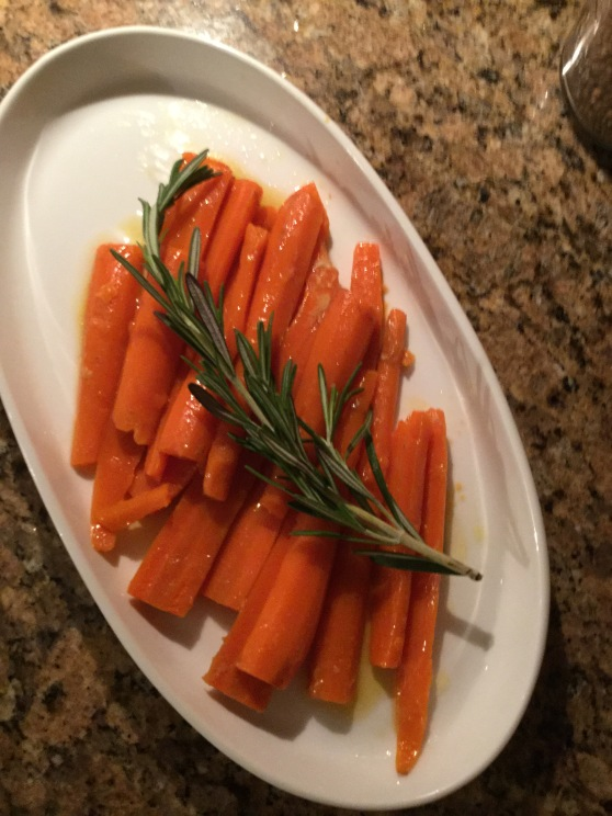 two food nuts rosemary and honey glazed carrots