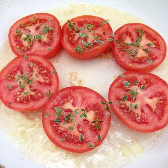 Tomatoes and thyme