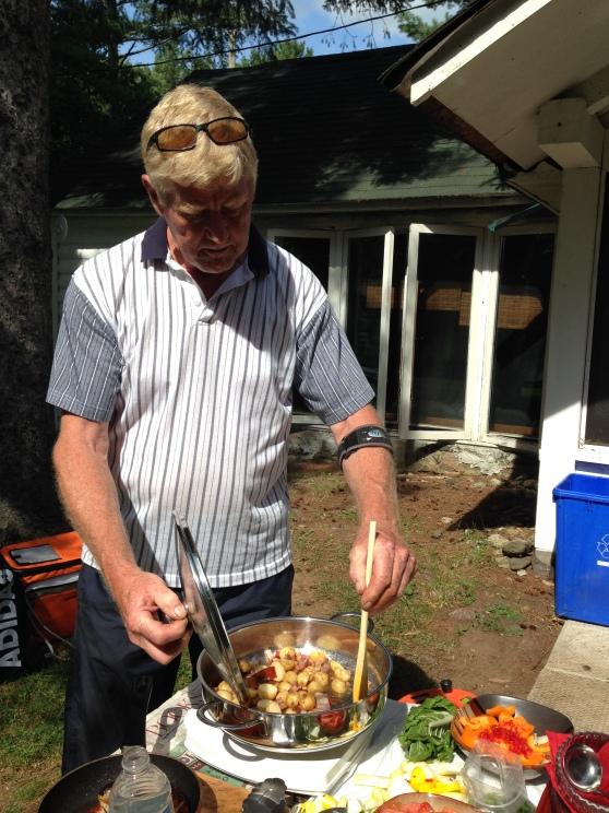 Mike cooks Ratatouille