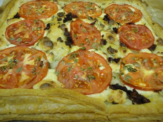 Tomatoe Goat Cheese Tart