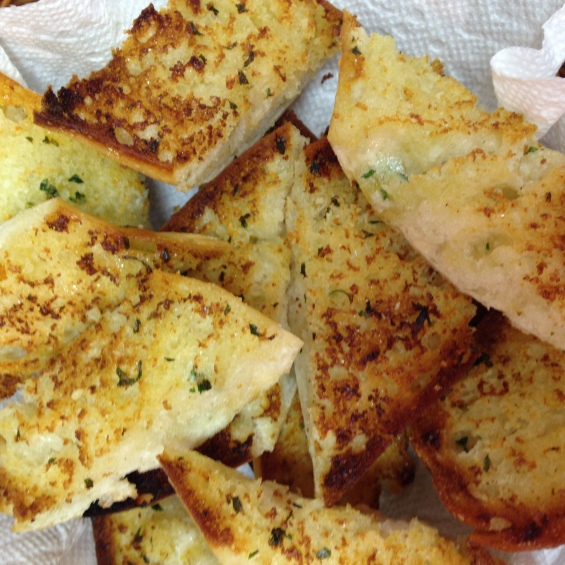 twofoodnuts garlic bread
