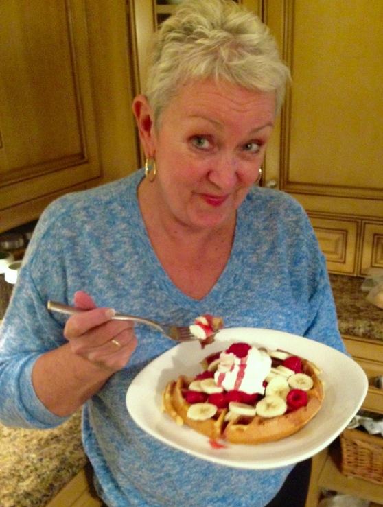 eating waffles (1)